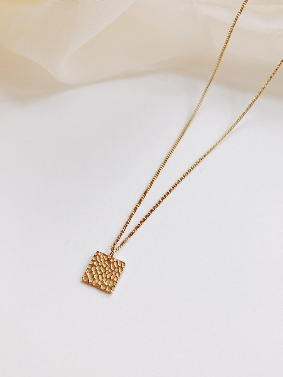 3dd687980 HomeJEWELRYNECKLACESThe Sand Square Necklace. Sale. Previous