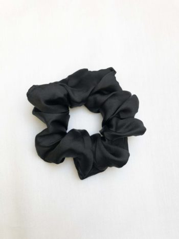 Black Satin Scrunchie KAJO Jewels Hair Accesories 1