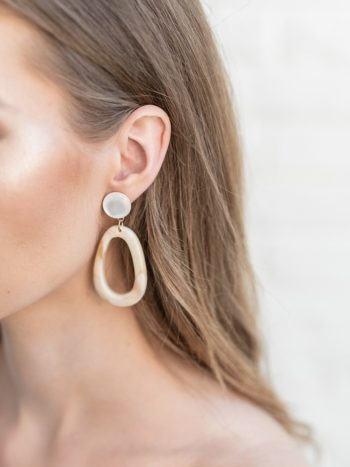 Egg Hoop Latte Earrings KAJO Jewels