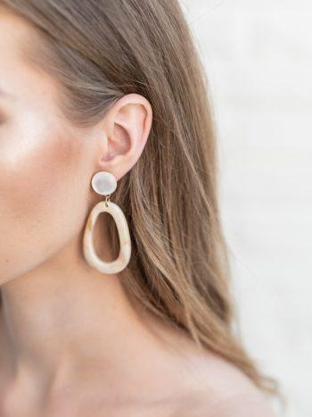 Egg Hoop Latte Earrings KAJO Jewels