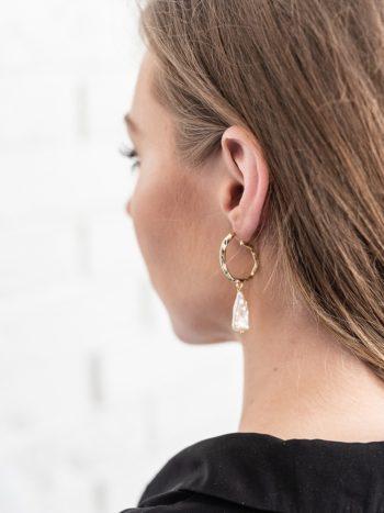 Pearl Drop Earrings KAJO Jewels