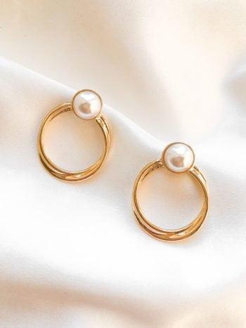KAJO Retro Pearl Perła Kolczyki Earrings 2