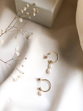 Asymetryczne Perłowe Kolczyki KAJO 1