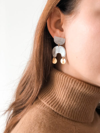 KAJO Jewels Kolczyki Earrings Marble Biale White 1
