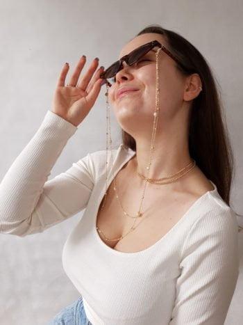 Łańcuszek do okularów Dwa Łańcuszki KAJO 1