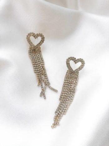 Kolczyki z Kryształami Serca 2 KAJO Jewels