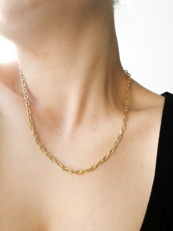 KAJO Jewels Chain Textured Necklace 1
