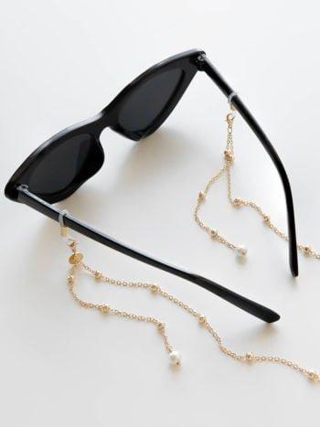 Łańcuszek do okularów z perełką 2